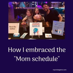How I embraced the _Mom schedule_ (1)